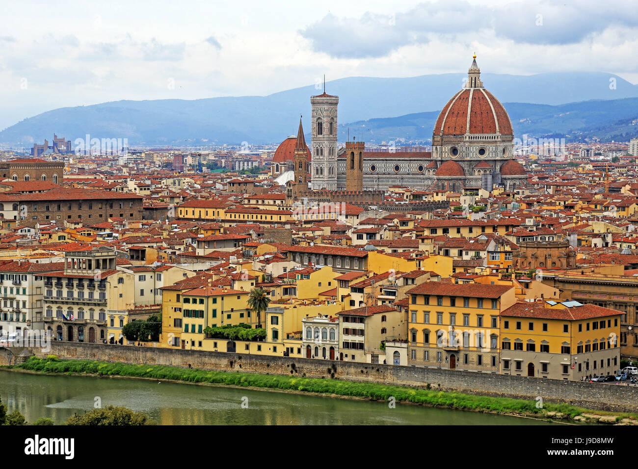 Firenze, Sito Patrimonio Mondiale dell'UNESCO, Toscana, Italia, Europa Immagini Stock