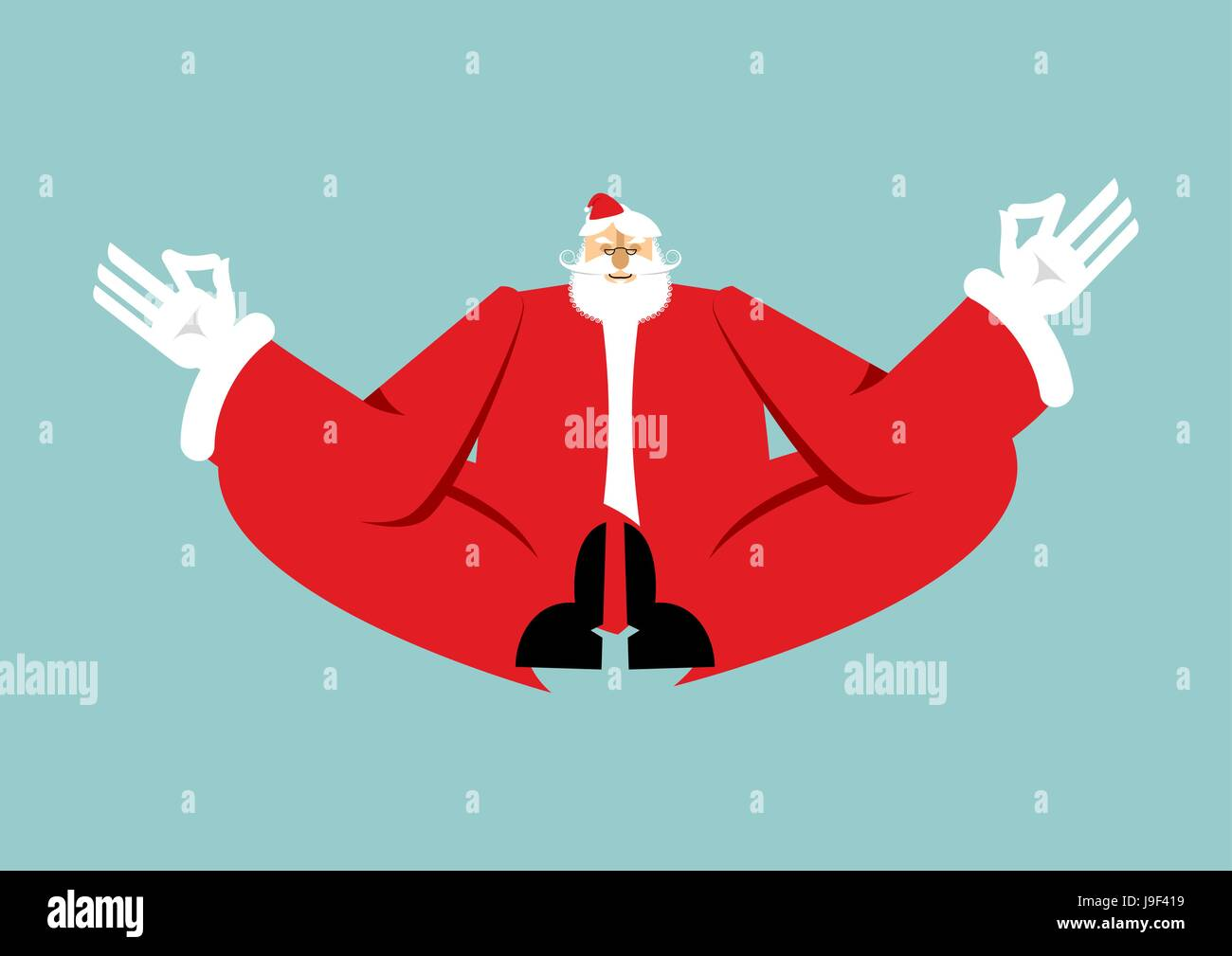 Immagini Natale Zen.Il Natale Di Yoga Santa Claus Yogi Anno Nuovo Zen Nonno In Posizione Del Loto Xmas Illuminismo E Relax Immagine E Vettoriale Alamy