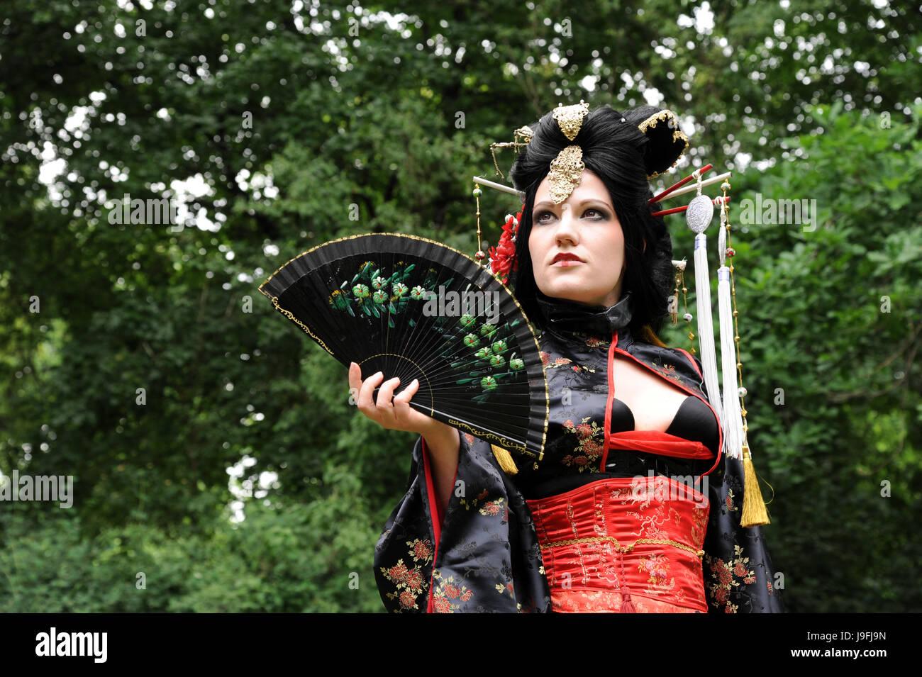 più amato arte squisita vari stili Il carnevale, costume, Giappone, kimono, tessuto, vestito ...