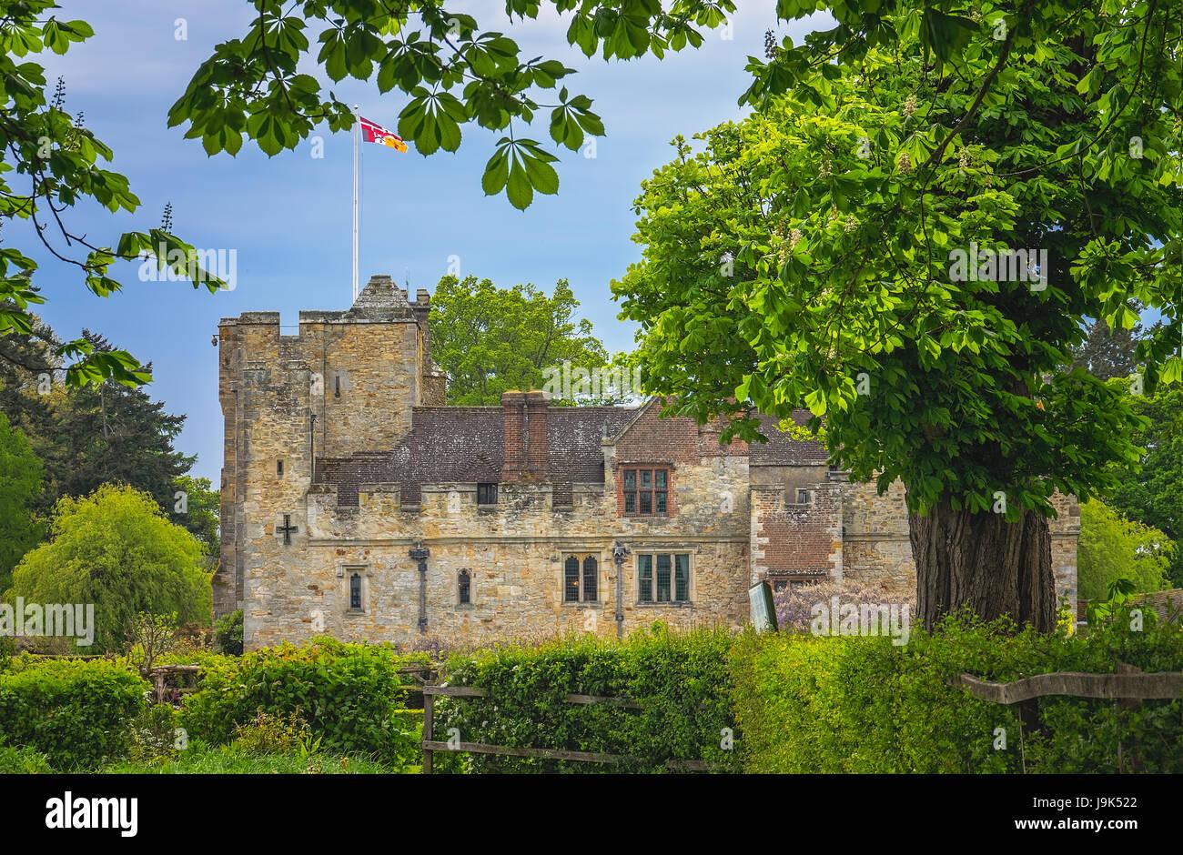 Il castello di Hever, Inghilterra - Aprile 2017 : il castello di Hever Castle si trova nel villaggio di Hever, Kent, Immagini Stock