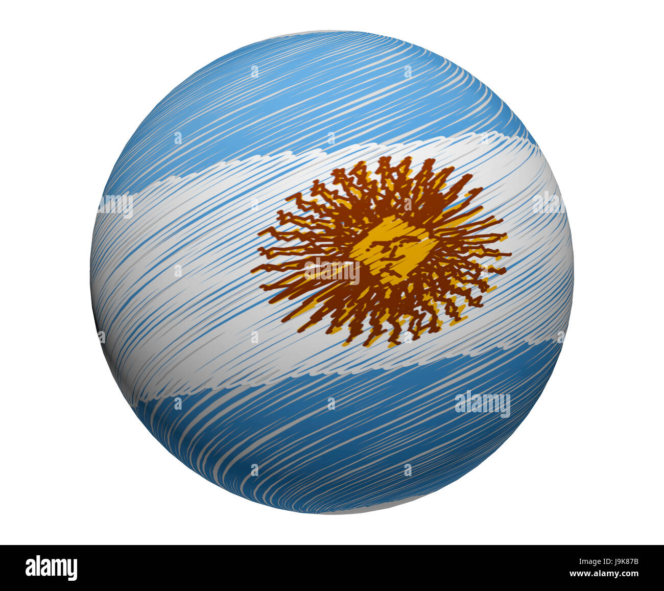 Globe Il Pianeta Terra Mondo Argentina Bandiera Pulsante