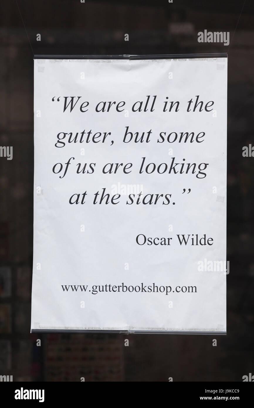 Irlanda Dublino Area Di Temple Bar Oscar Wilde Citazione