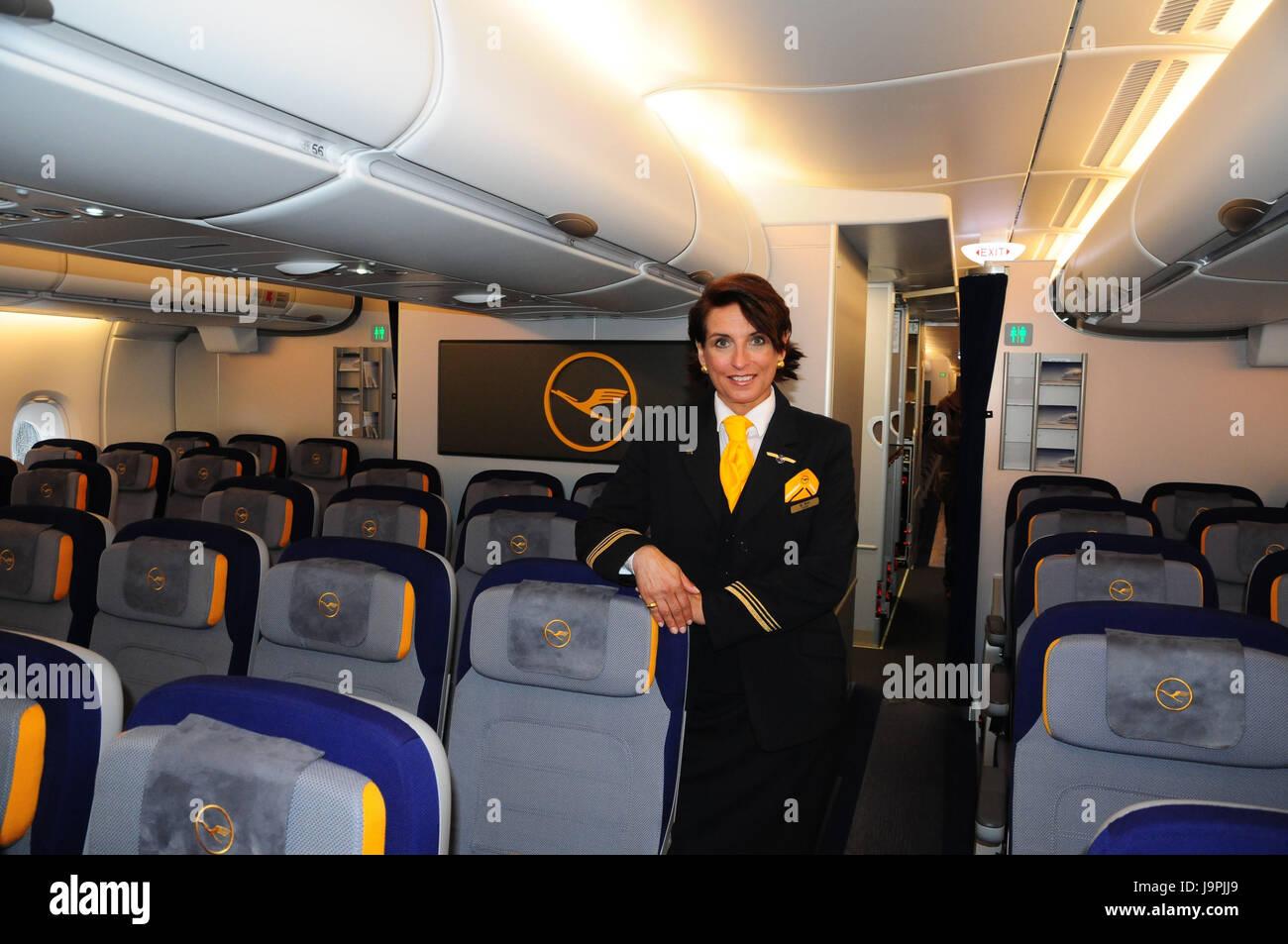 In aereo allinterno sedi assistente di volo camicia daria sedi