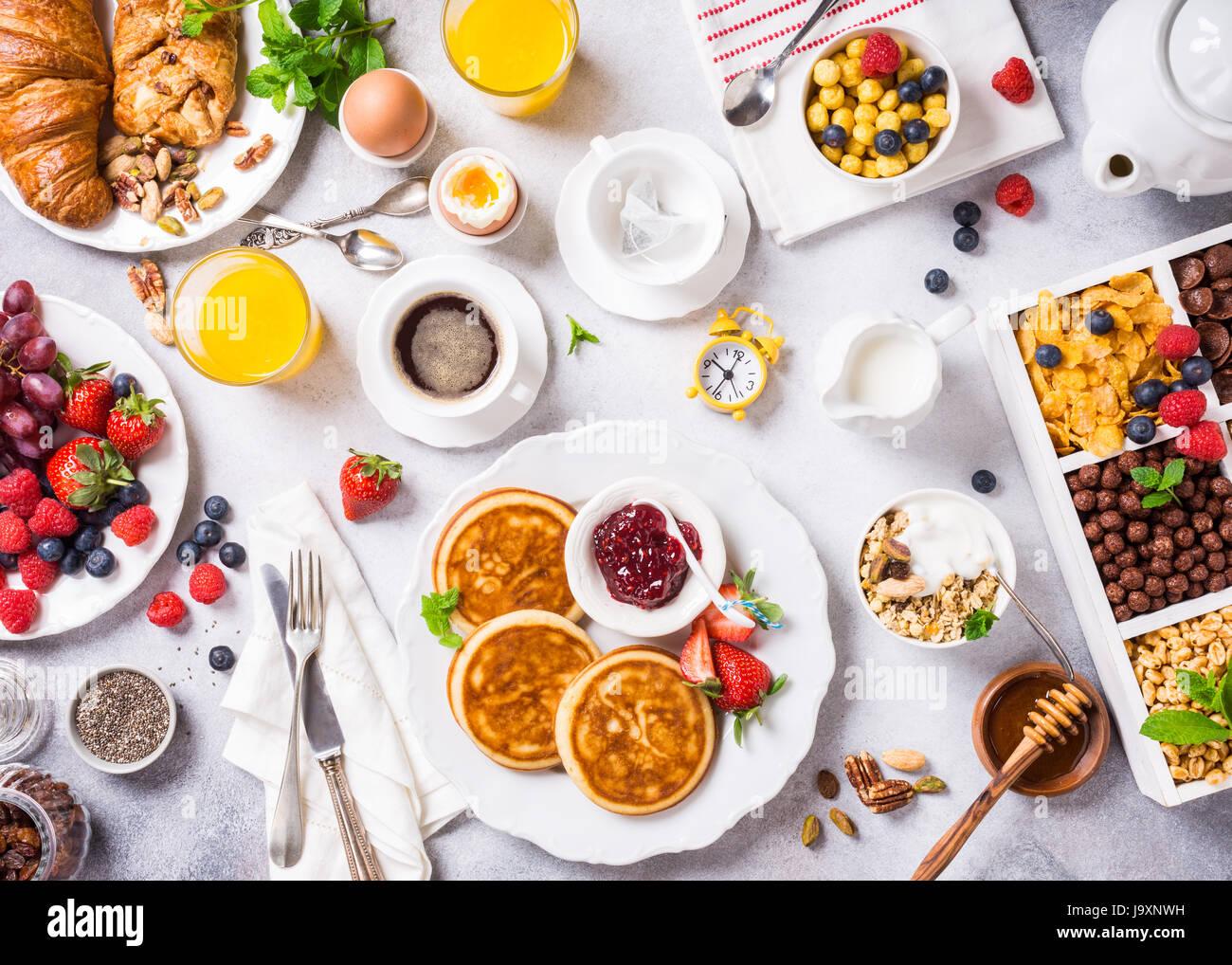 Assortita colazione sana Immagini Stock