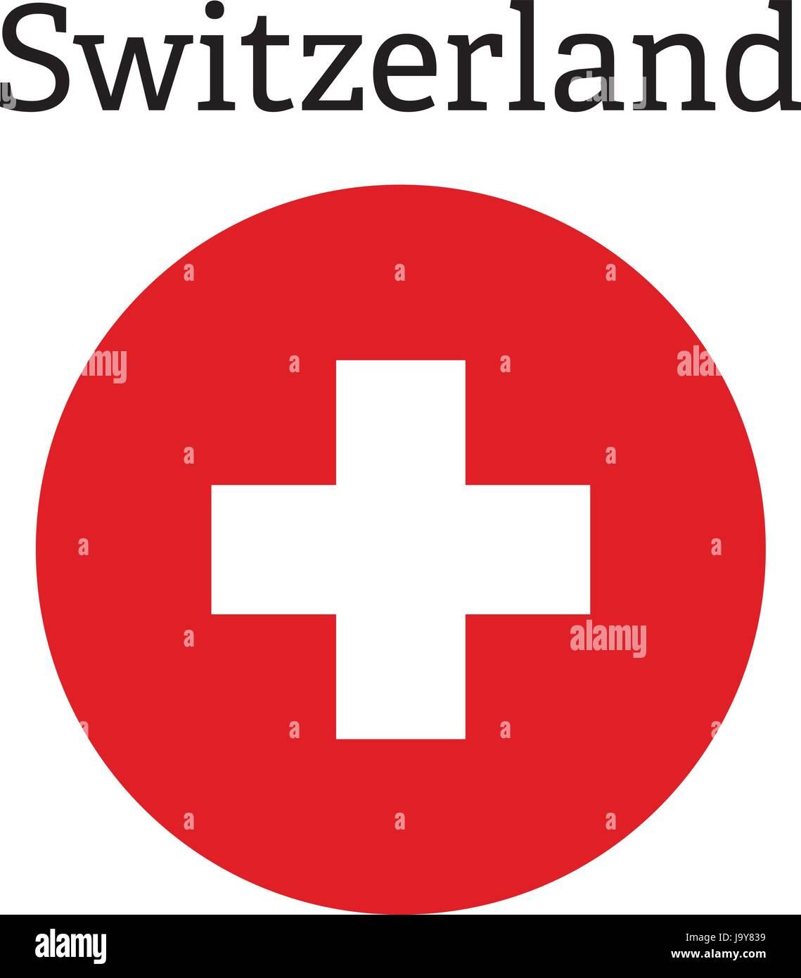 La Croce Rossa E La Relativa Icona Bandiera Svizzera Icona Vettore