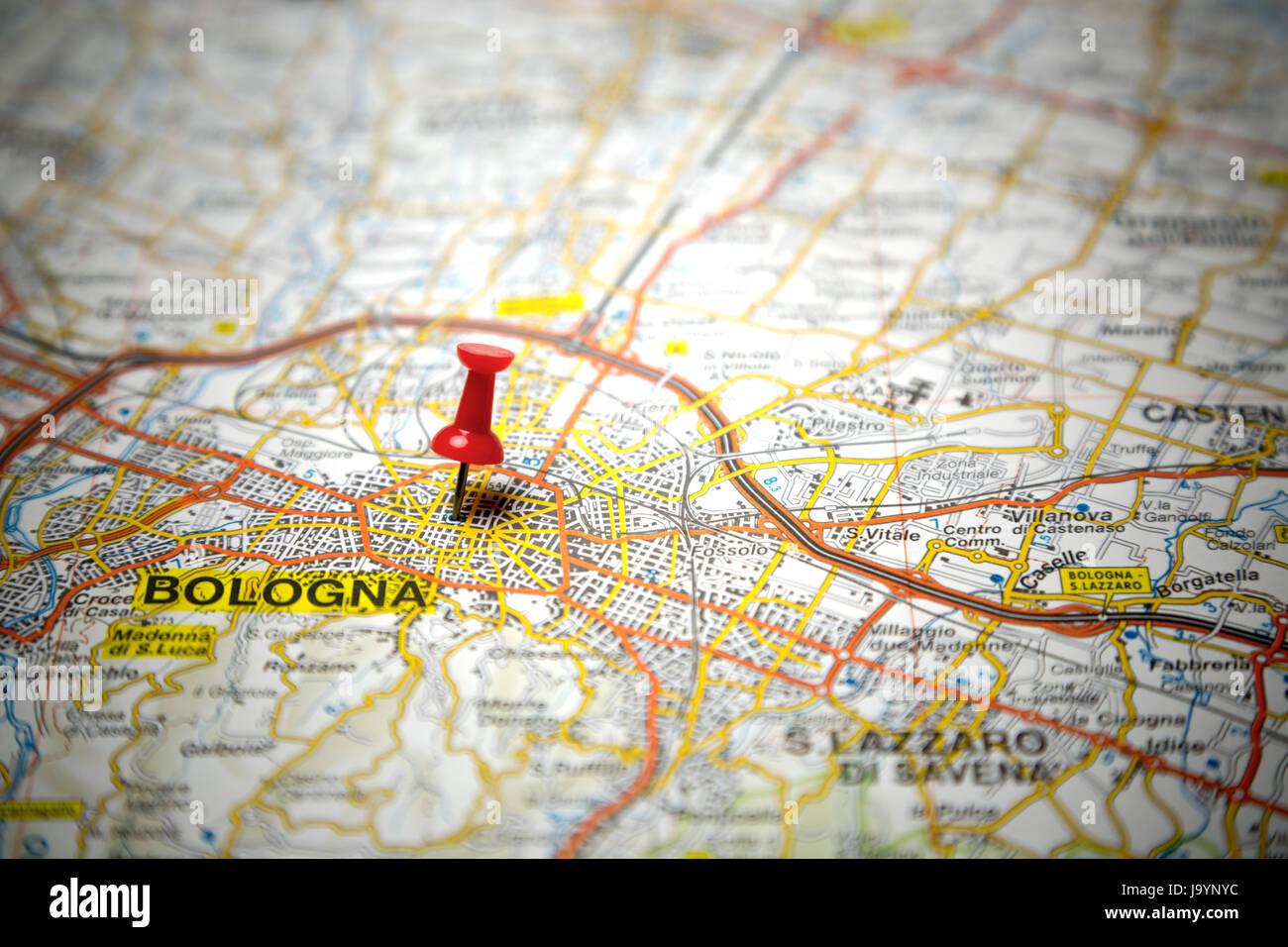 Cartina Italia Bologna