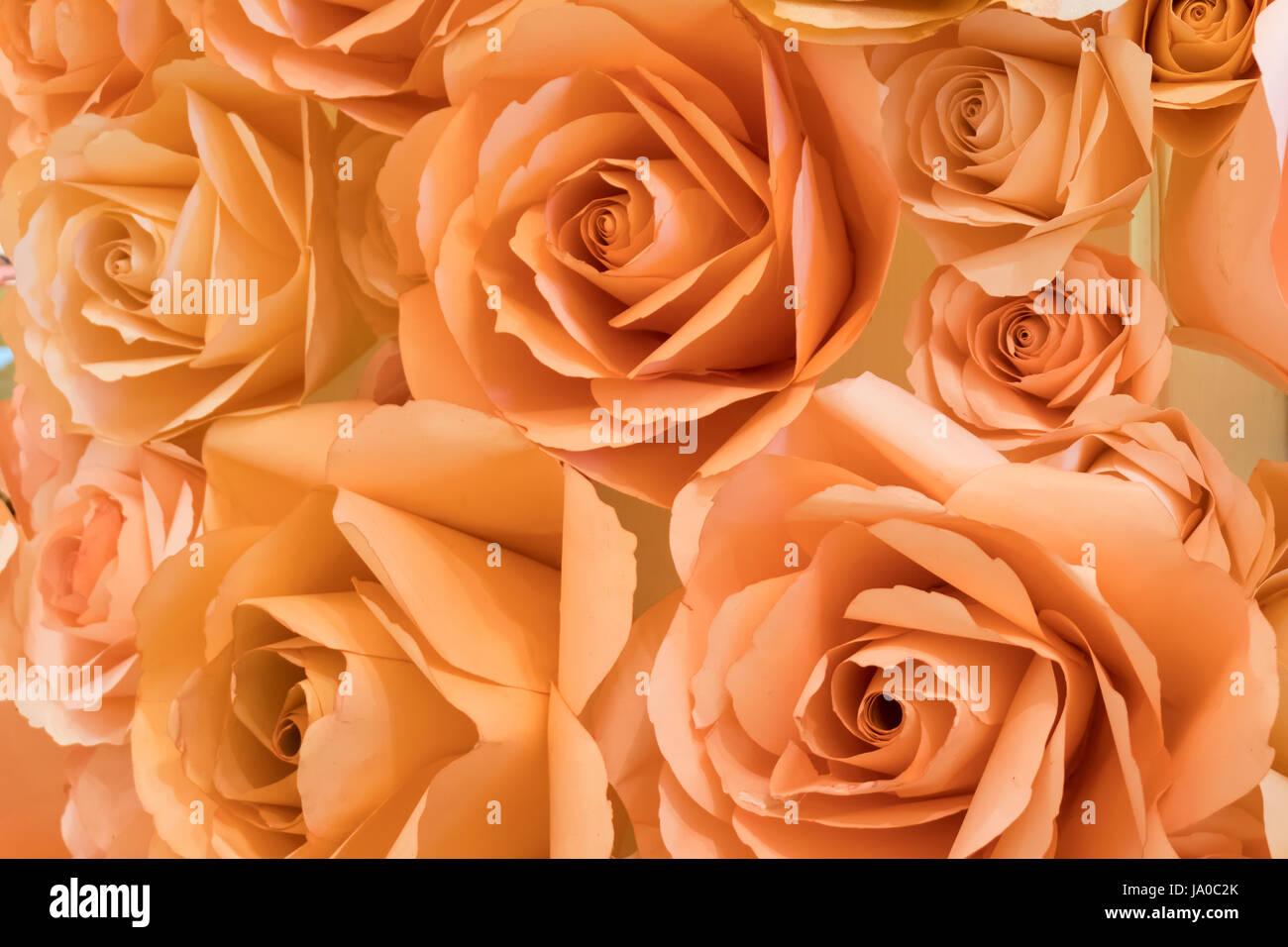 Arancione Rosa Color Pesca Carta Artigianale Sfondo Rosa Foto
