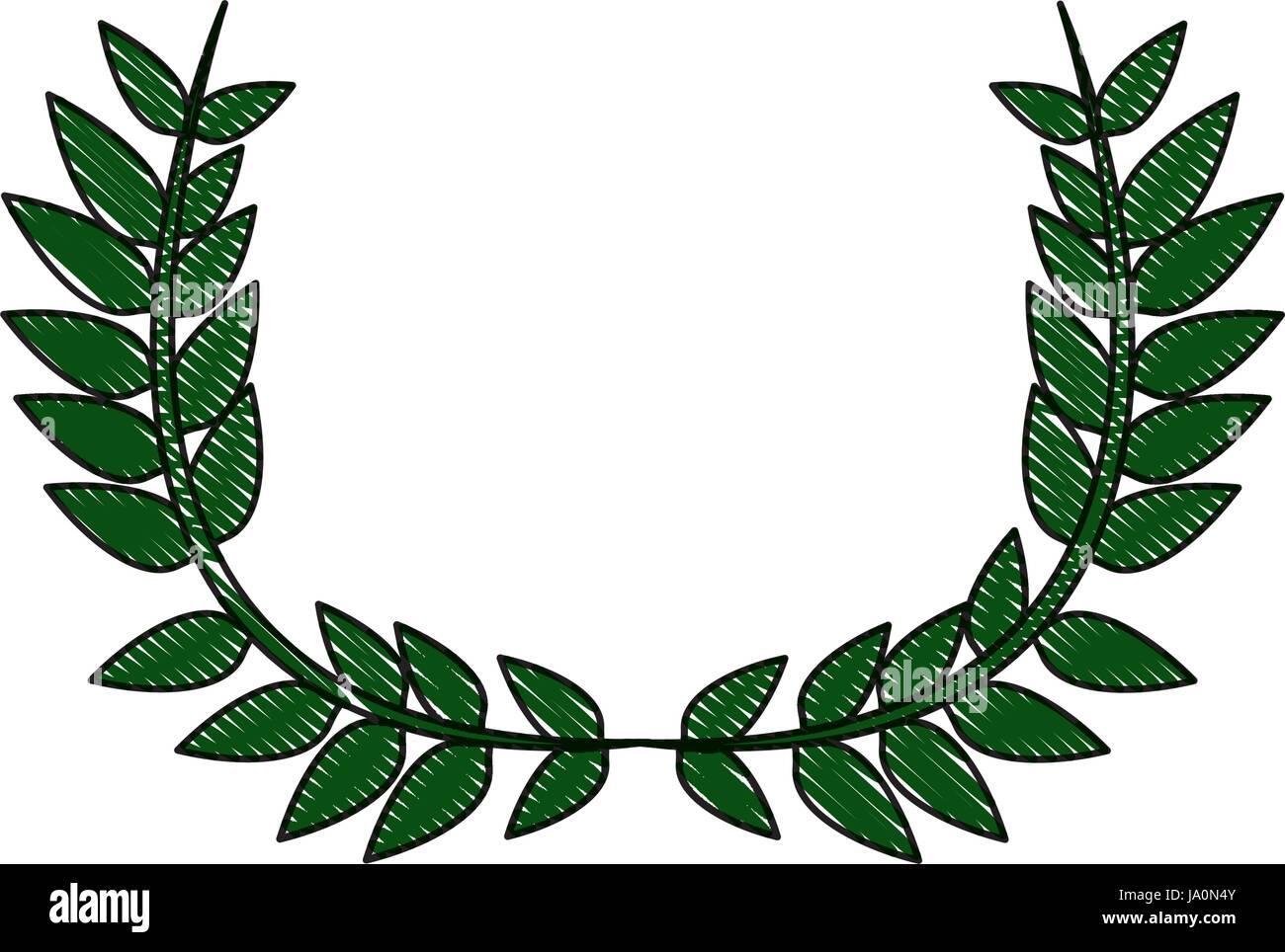Disegno Di Mezza Corona Di Fiori Decorazione Naturale Di