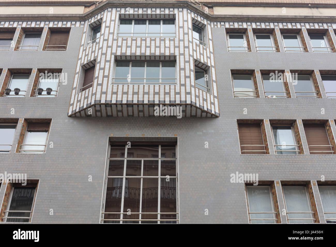 Edificio di Studio dell'architetto Henri Sauvage (1926-1928), 65 rue de La Fontaine, Auteuil, Parigi, Francia Immagini Stock