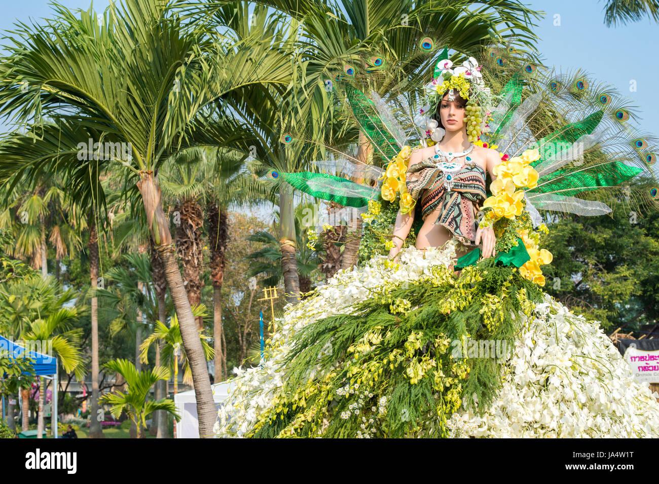 Chiang Mai Festival dei Fiori il 6 febbraio 2016 a Chiang Mai. Questo anno il mondo famoso festival ha festeggiato Immagini Stock