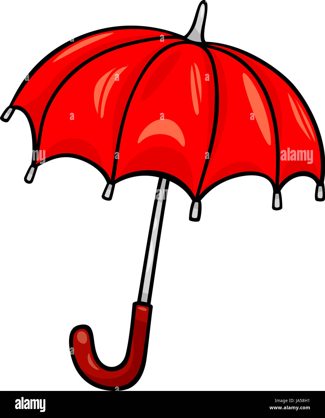 Oggetto arte fumetti grafica ombrello illustrazione