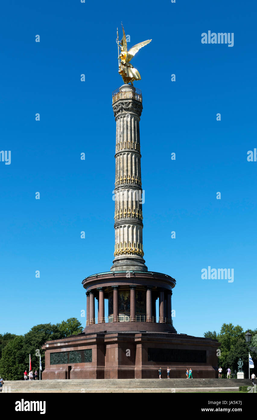 Il Siegessäule (Colonna della Vittoria), Großer Stern, Berlino, Germania Immagini Stock