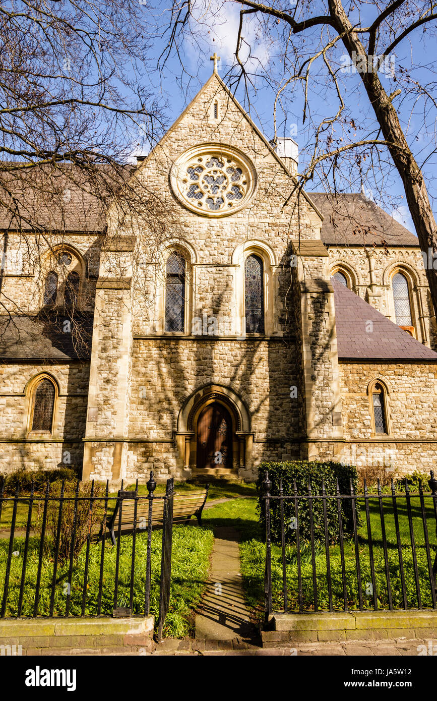 La Chiesa di Cristo, il Broadway, Bexleyheath, Londra, Inghilterra Immagini Stock