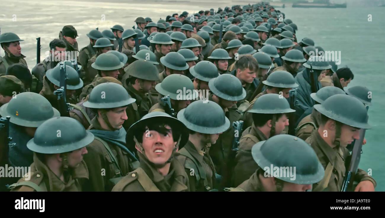 Dunkerque 2017 Warner Bros film Immagini Stock