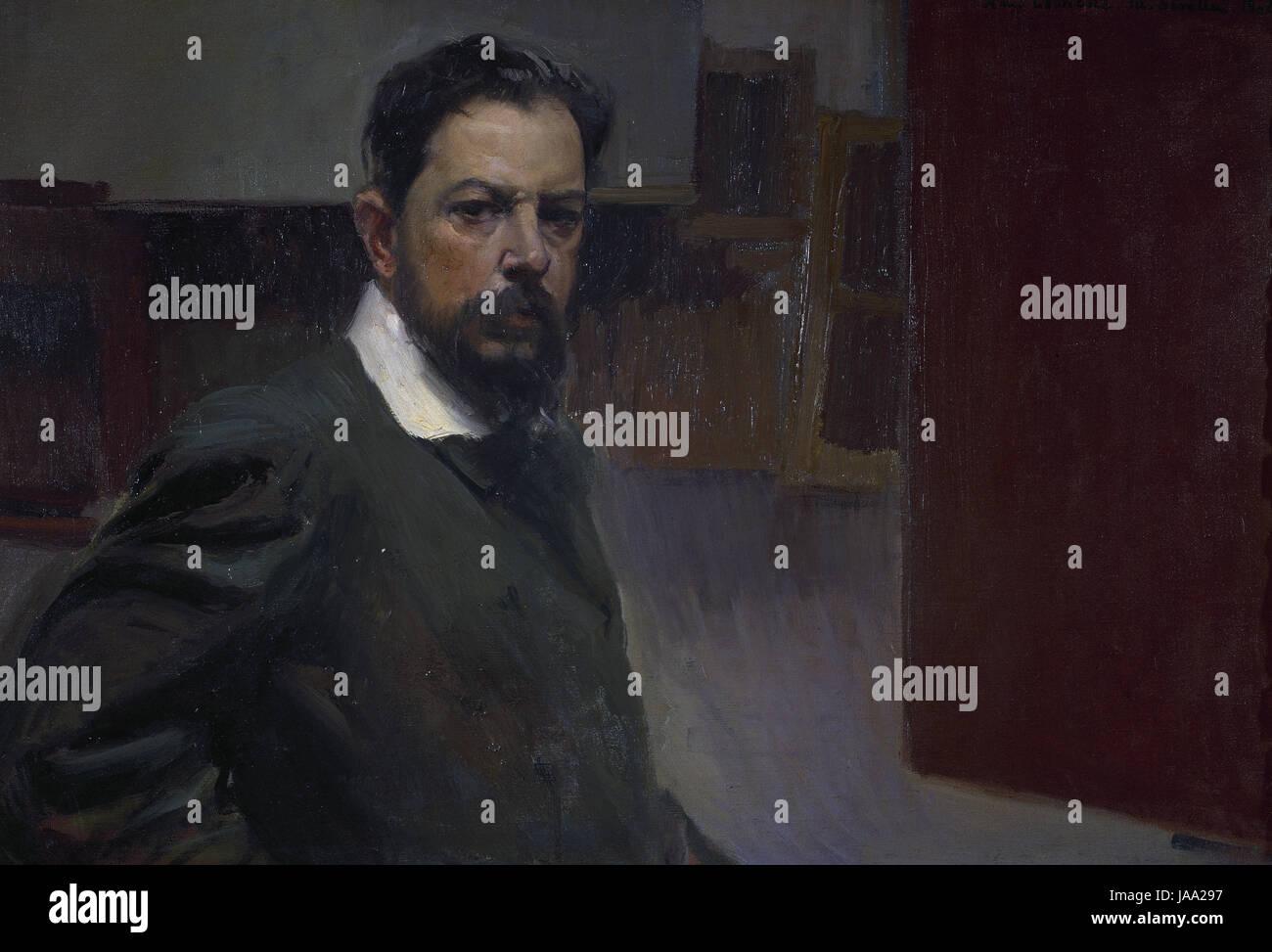 JoaquIn Sorolla (1863-1923). Pittore spagnolo. Self-portrait, 1904. Olio su tela. Museo Sorolla. Madrid. Spagna. Immagini Stock