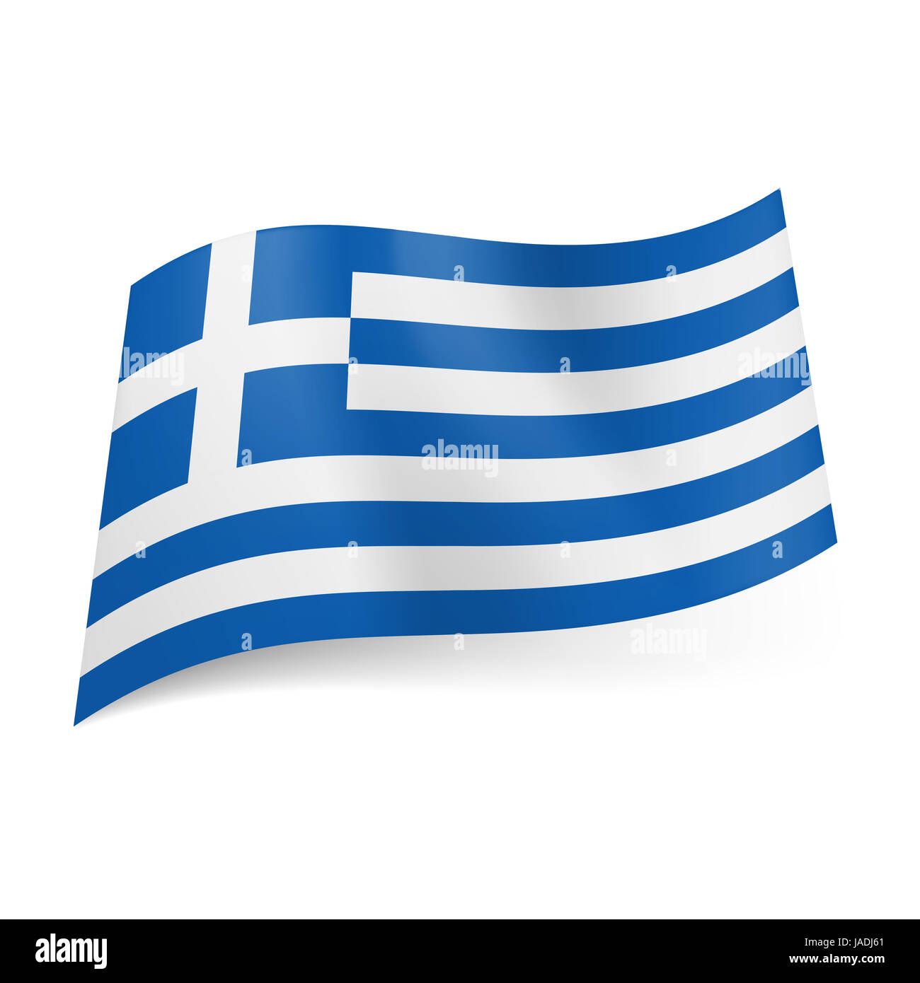 Bandiera Nazionale Della Grecia Blu E Bianco Strisce Orizzontali