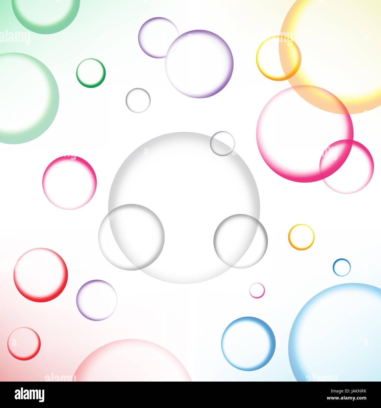 La bellissima eps10 cerchi di colore sfondo Immagini Stock
