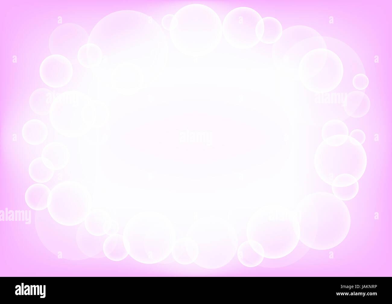 I circoli arrotondati eps10 sfondo rosa Immagini Stock
