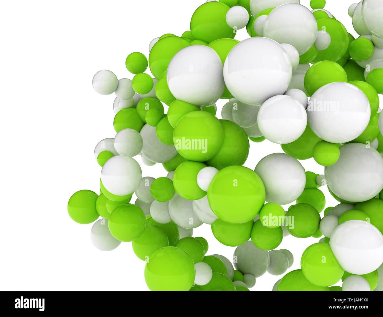 Il Bianco E Il Verde Settori Isolati Su Sfondo Bianco Foto