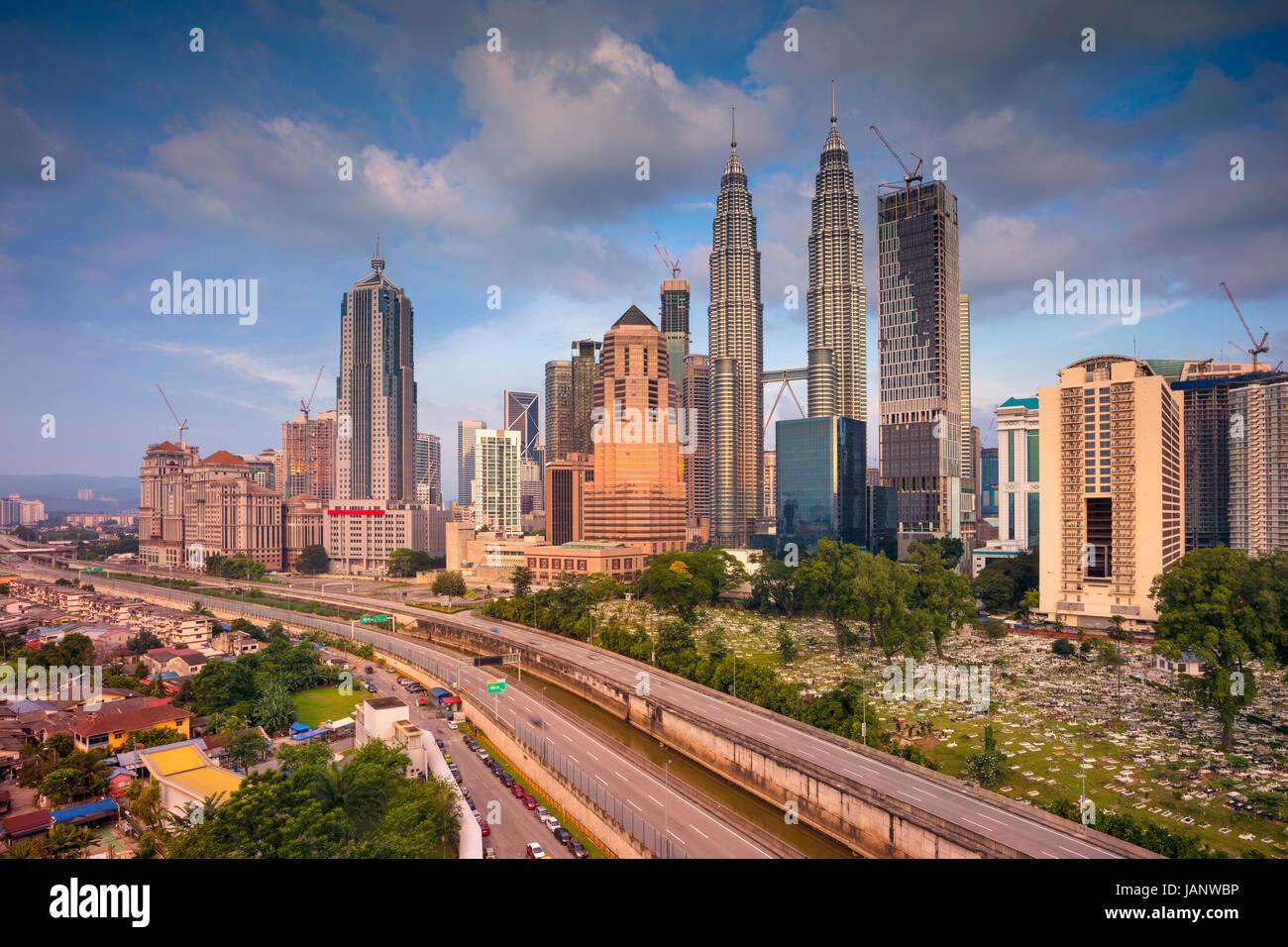 Kuala Lumpur. Immagine di paesaggio cittadino di Kuala Lumpur in Malesia durante il giorno. Immagini Stock