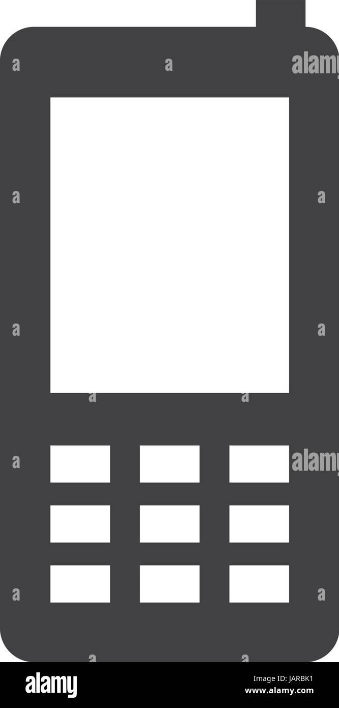 Semplice telefono cellulare o telefono cellulare icona vettore Immagini Stock