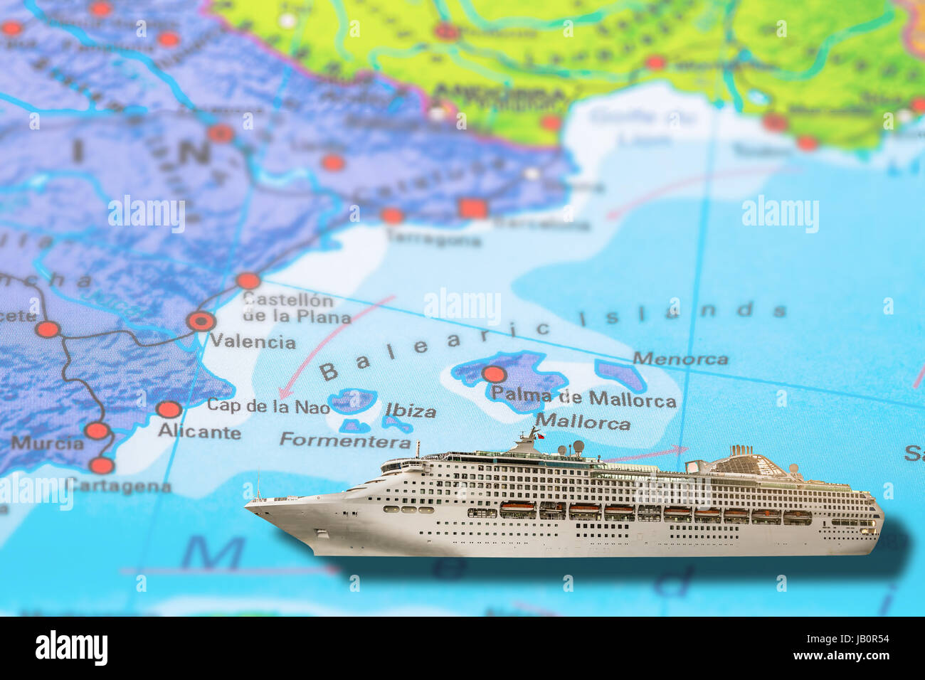 Cartina Geografica Spagna E Formentera.Ibiza E Formentera Valencia In Spagna La Nave Di Crociera
