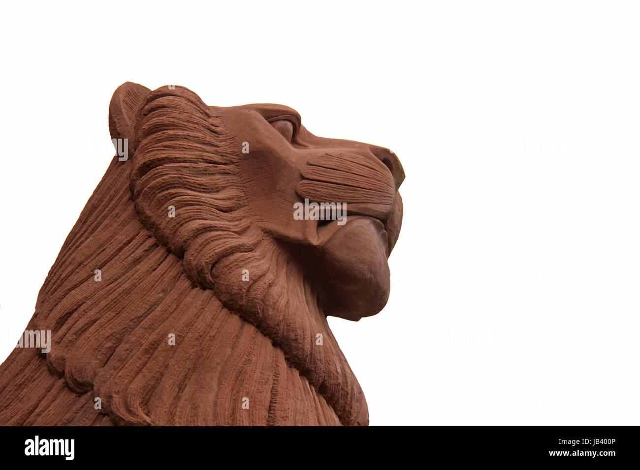 Mannheimer leone di pietra arenaria Immagini Stock