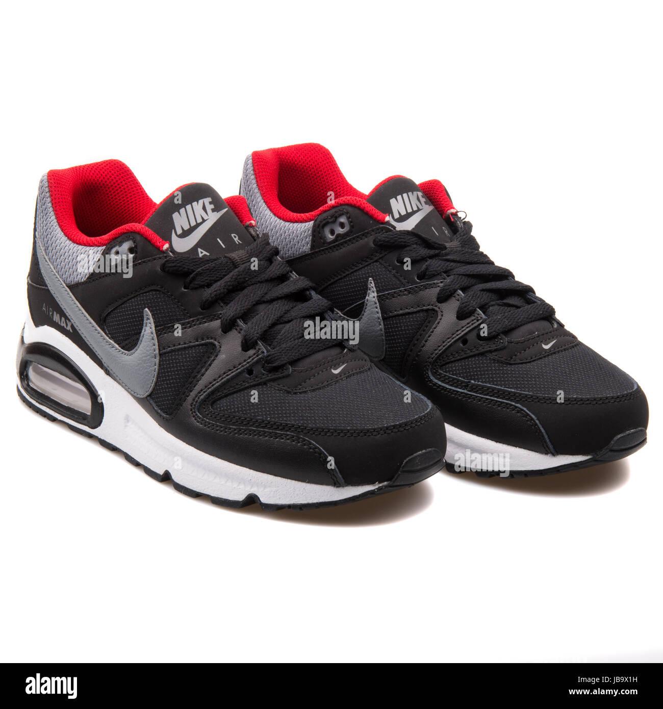 Nike air max command (gs) scarpe da ginnastica nero rosso
