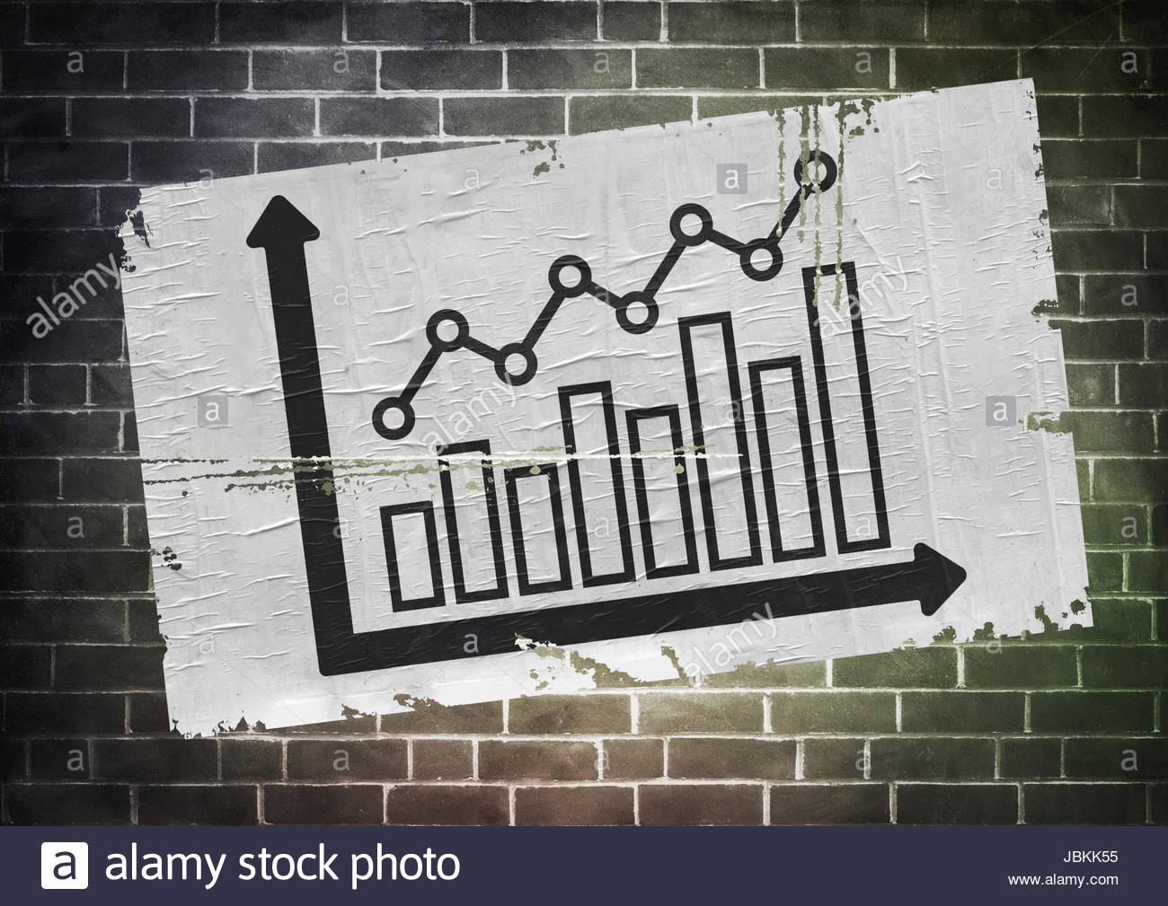 Economia concetto poster Immagini Stock