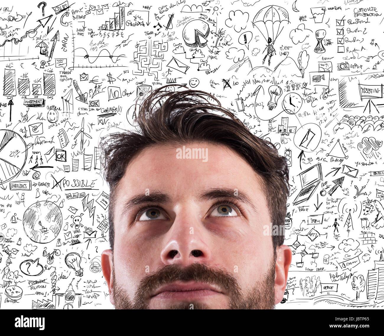 Nuovo business idea creativa di un progetto Immagini Stock