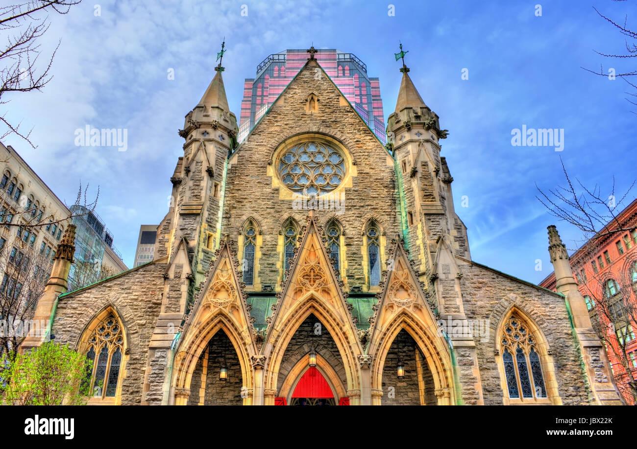 La cattedrale di Christ Church a Montreal, Canada Immagini Stock