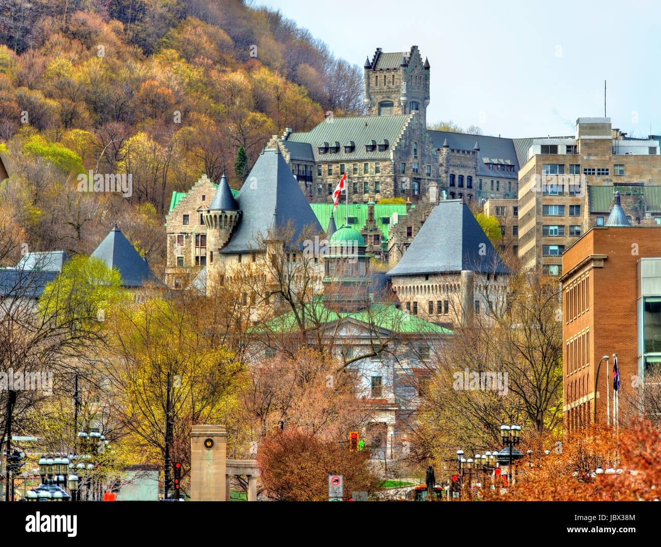 La McGill University, McTavish serbatoio e Royal Victoria Hospital a Montreal - Canada Immagini Stock