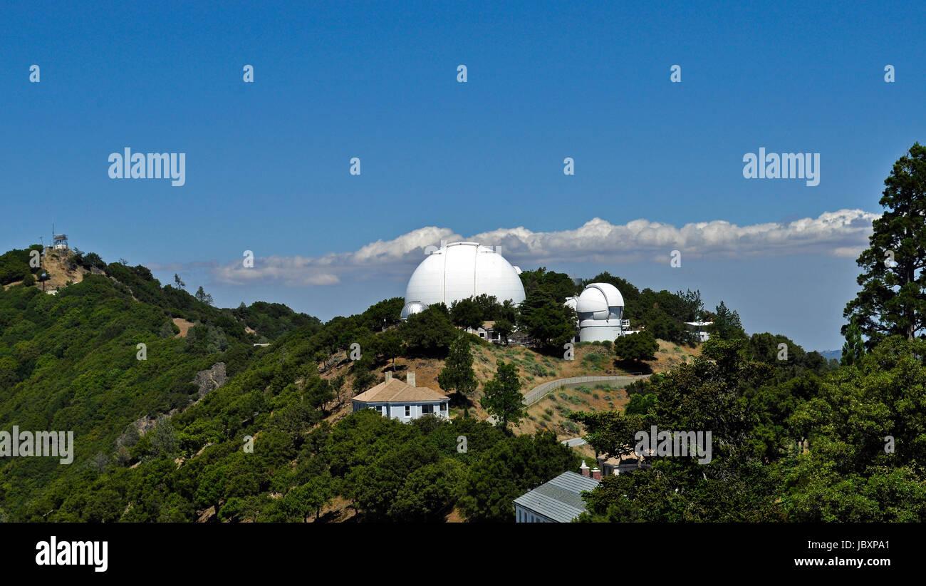 120 pollici telescopio, Lick Observatory, Mount Hamilton, California Immagini Stock
