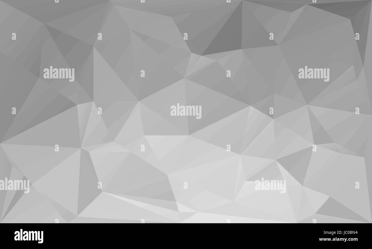 Triangoli Astratta Sfondo Bianco Grigio Illustrazione Vettoriale