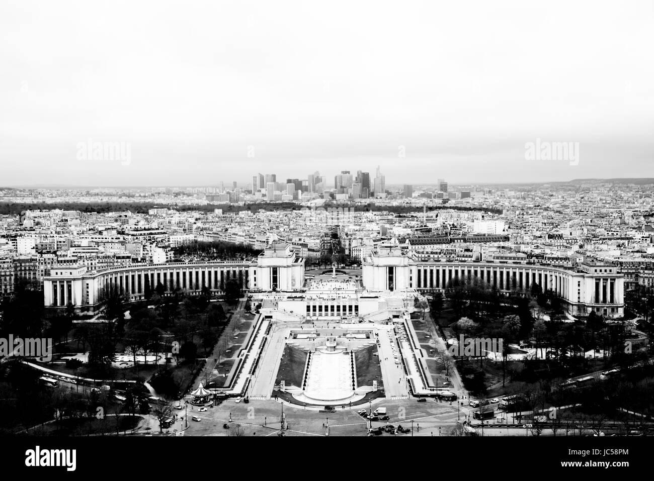 Panoramica del trocadero Immagini Stock
