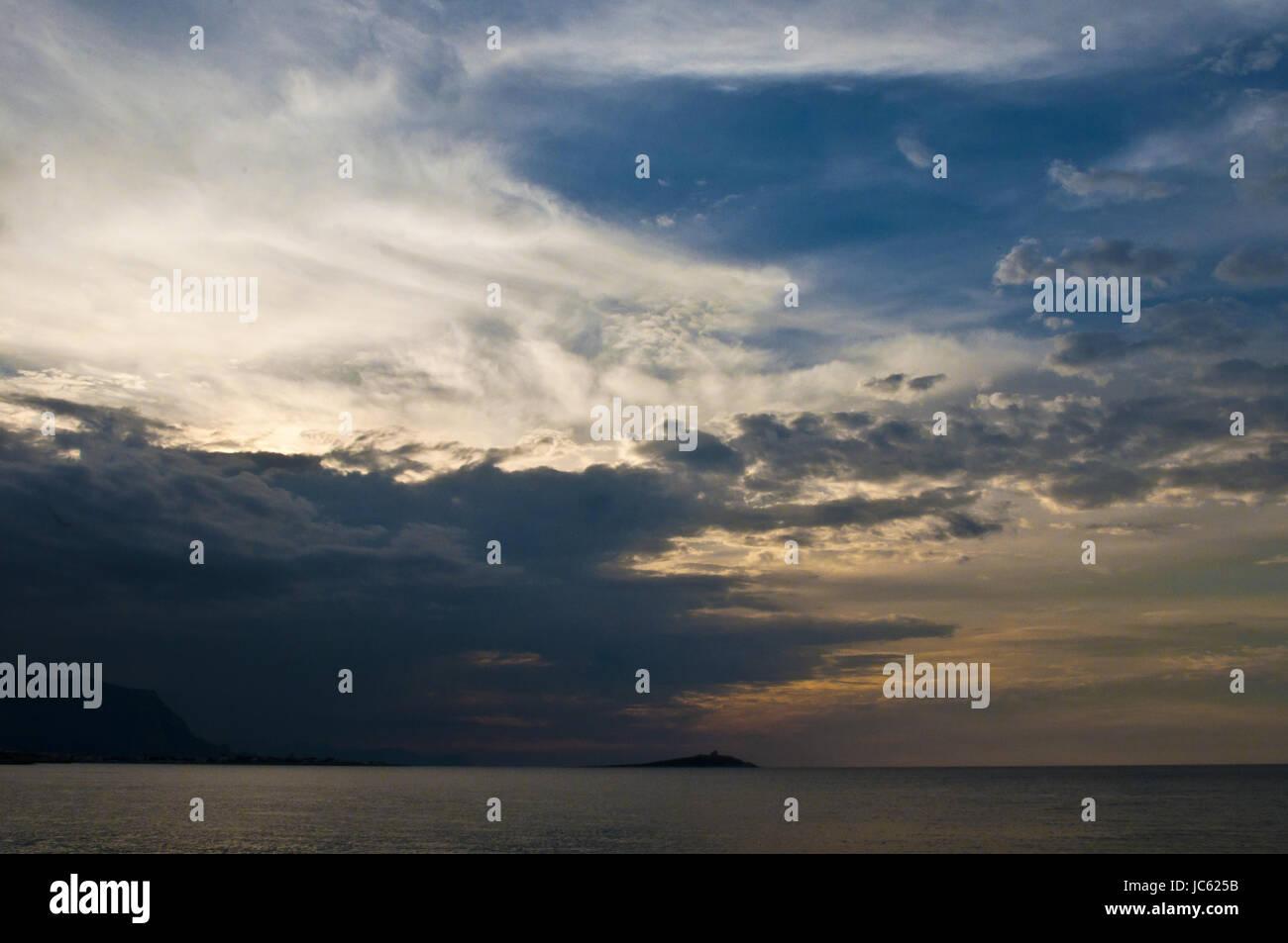 Panorama siciliano Immagini Stock