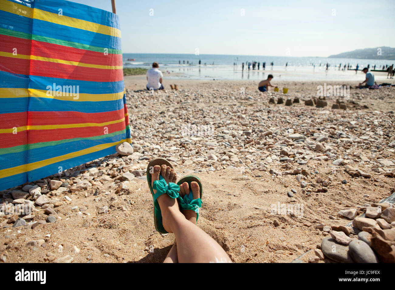 Spiaggia di Charmouth Dorset, England, Regno Unito Immagini Stock