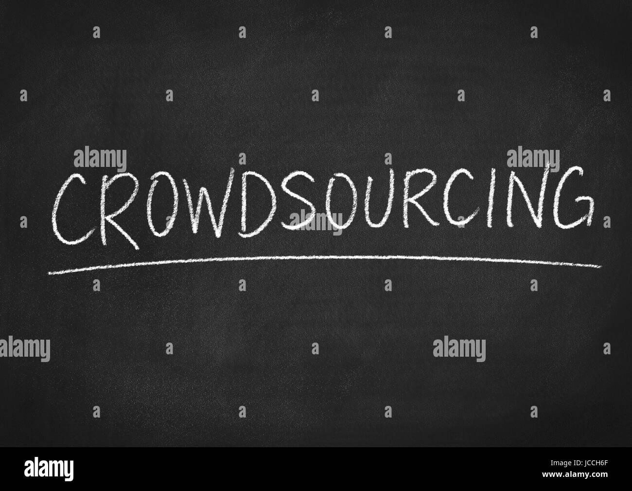 crowdsourcing Immagini Stock