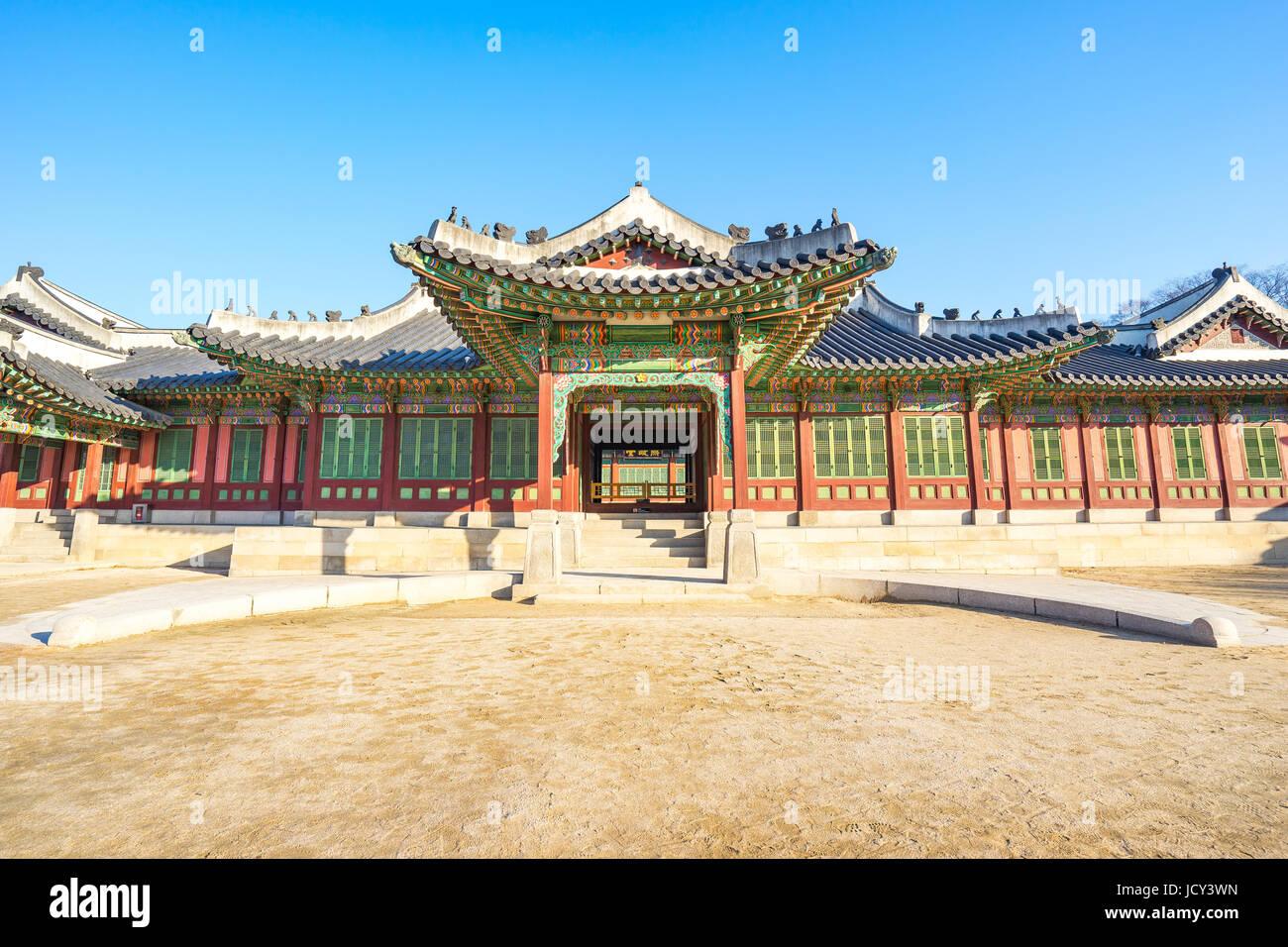 Il Palazzo di Changdeok a Seoul, in Corea del Sud. Immagini Stock