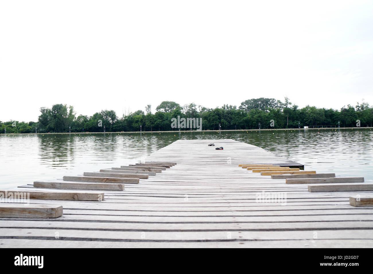 Il canale di canottaggio di Plovdiv, Bulgariq Immagini Stock
