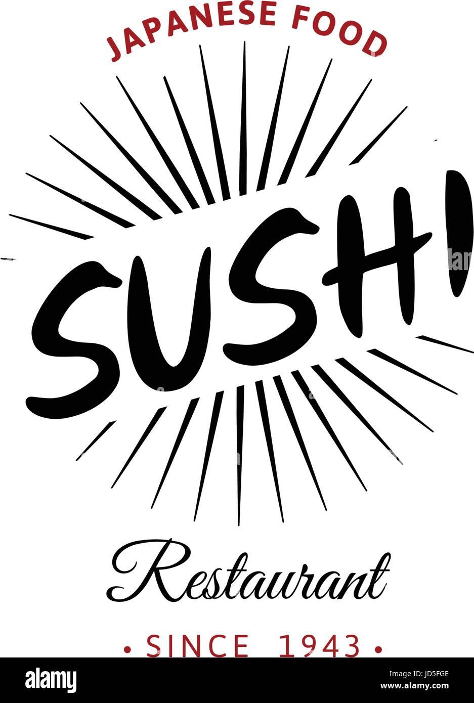 Il logo di vettore ed emblema per i ristoranti di cucina Giapponese ...
