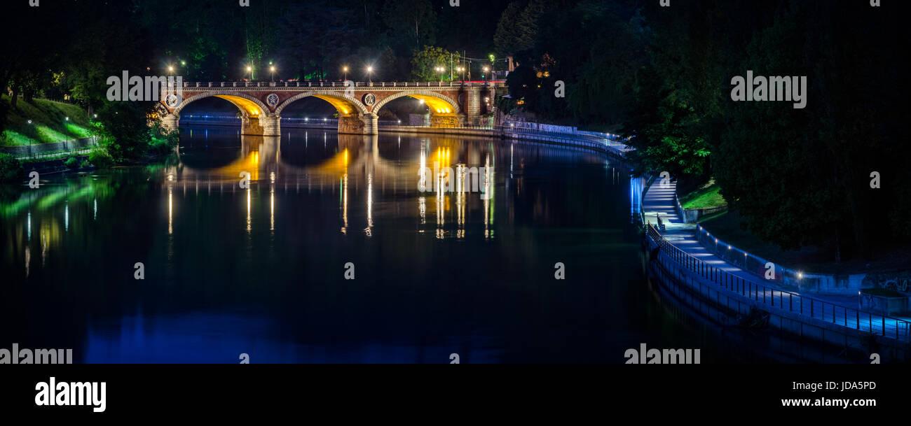 Torino Ponte Isabella Foto Stock