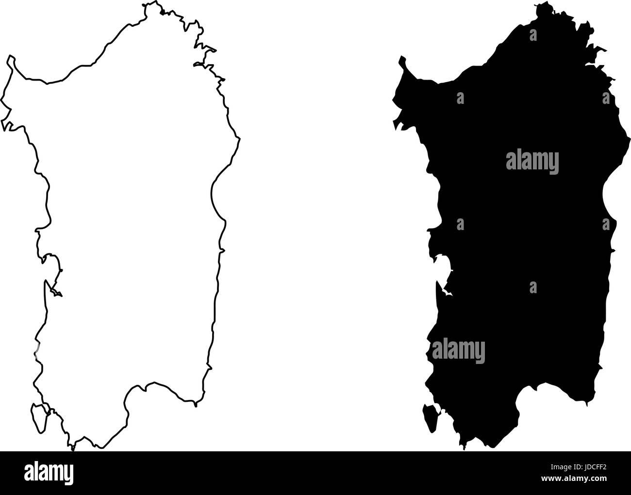 Cartina Sardegna 2017.L Isola Di Sardegna Mappa Illustrazione Vettoriale Scribble Disegna L Isola Di Sardegna Immagine E Vettoriale Alamy