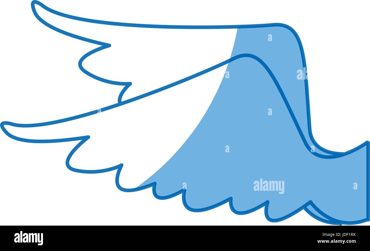Disegno Di Ali Di Piume Di Uccello Icona Angelo Illustrazione