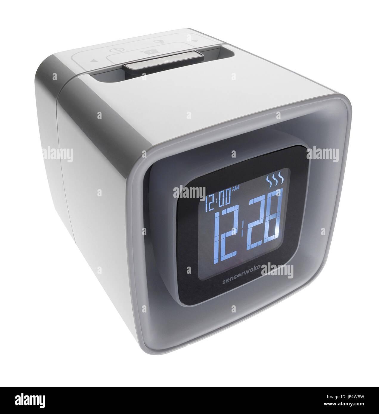 Allarme olfattivo orologio. Allarme accompagnato da odore emesso. Immagini Stock