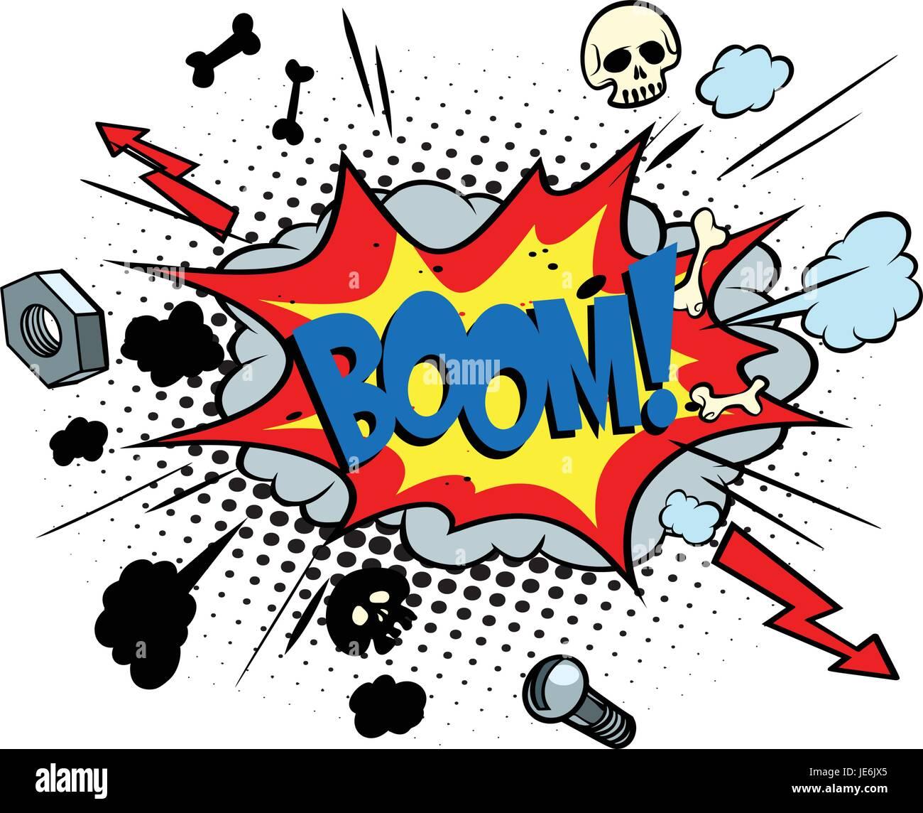 Tecnica per il superamento di dossi ripidi - consigli Boom-fumetto-pop-art-bolla-retro-illustrazione-vettoriale-je6jx5