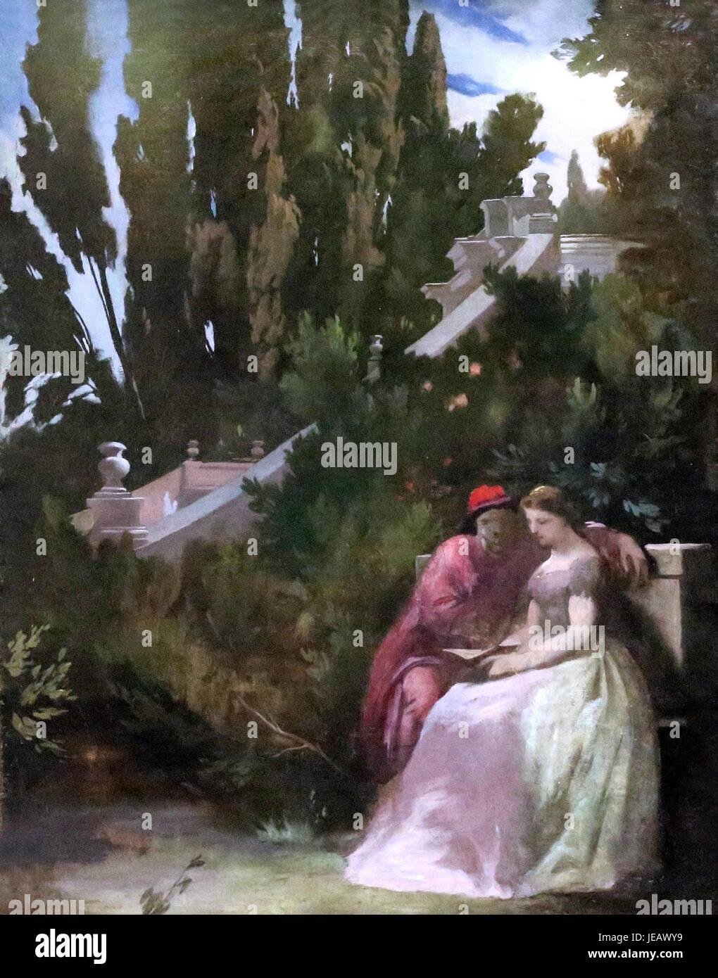 Anselm Feuerbach - Paolo und Francesca - Kunsthalle Mannheim Immagini Stock