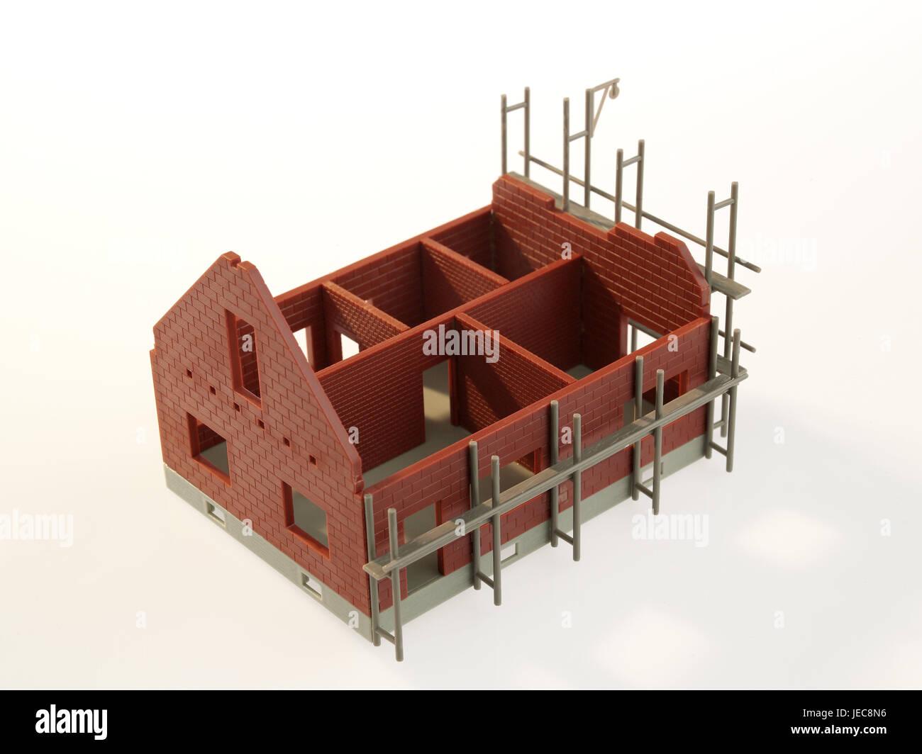 Modello Di Casa Casa Unifamiliare Shell Ponteggi Icona La