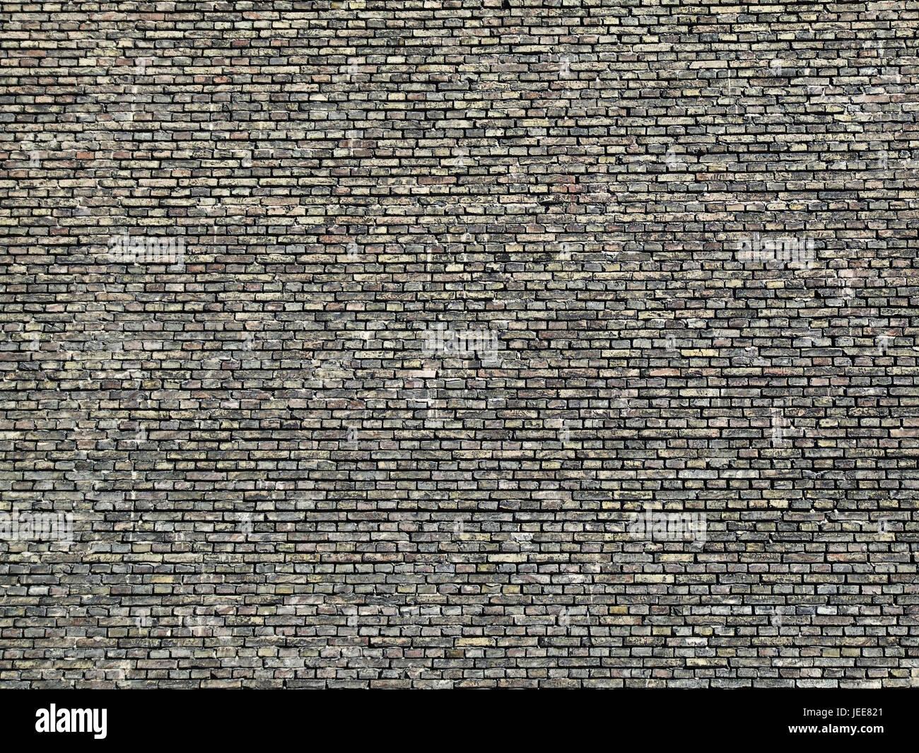 In mattoni rossi muro difensivo, dettaglio, mura difensive, rosso, mattoni, mattoni muraglia difensiva, architettura, Immagini Stock