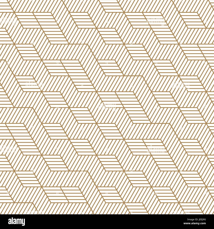 Bianco E Oro Sullo Sfondo Piastrella Design Pattern Vettore E
